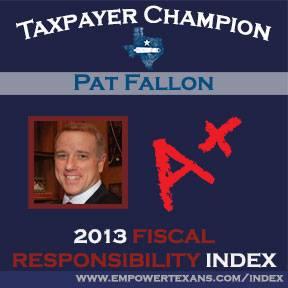 Pat Fallon Taxpayer Champion A+