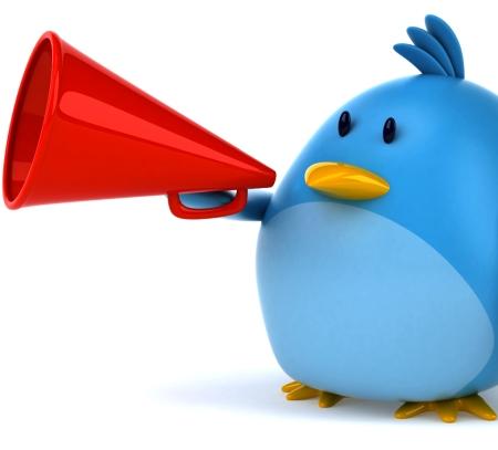 Twitter Bird Megaphone