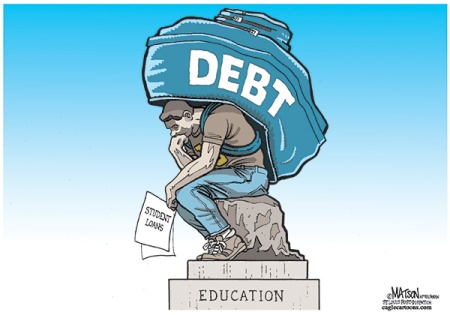 student loan debt cartoon