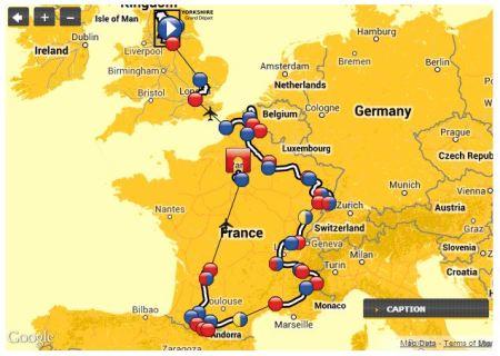 2014 Tour de France Route
