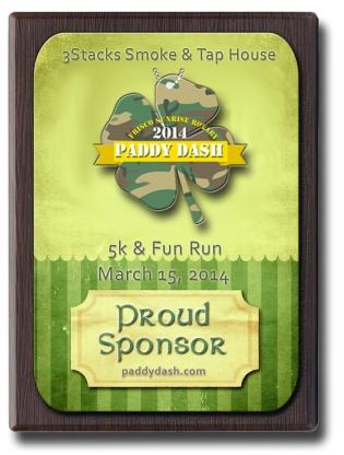 2014 Paddy Dash Sponsor Banner