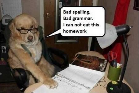 bad grammar lost appetite