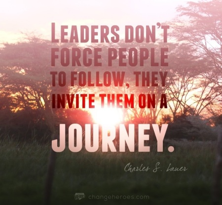 leaders invite people on the journey