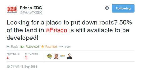 FriscoEDC Tweet