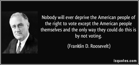 the right to vote roosevelt quote